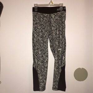 Nike black and white leggings.